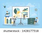 business data analysis and... | Shutterstock . vector #1428177518