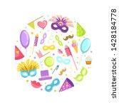 carnival celebration party... | Shutterstock .eps vector #1428184778