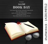 world book day with open book | Shutterstock .eps vector #1428198512