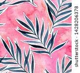 watercolor exotic seamless... | Shutterstock . vector #1428206378