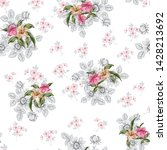 pink and brown vector flowers... | Shutterstock .eps vector #1428213692