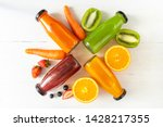 set of homemade fresh fruit... | Shutterstock . vector #1428217355