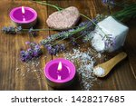 spa massage setting with... | Shutterstock . vector #1428217685