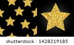 seamless pattern with gold... | Shutterstock .eps vector #1428219185