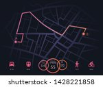 route dashboard. city map...