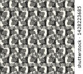 monochrome ornate grain stroke... | Shutterstock .eps vector #1428223685