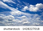 the vast blue sky and clouds sky | Shutterstock . vector #1428227018