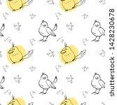 seamless pattern  cute cartoon... | Shutterstock .eps vector #1428230678