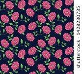 all over rose vector flower... | Shutterstock .eps vector #1428230735