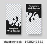 design of vertical black web... | Shutterstock .eps vector #1428241532