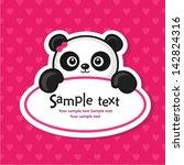 cute baby shower. vector... | Shutterstock .eps vector #142824316