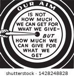 our aim   retro ad art banner... | Shutterstock .eps vector #1428248828