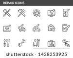 Repair Vector Line Icons Set....