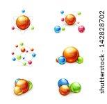 molecule icon vector set | Shutterstock .eps vector #142828702