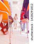 businesswoman explaining...   Shutterstock . vector #1428291812