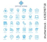 signs and icons set for offices  | Shutterstock .eps vector #1428298718