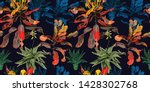 exotic tropical flowers and... | Shutterstock .eps vector #1428302768