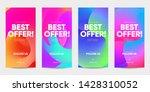 set of sale banner for social... | Shutterstock .eps vector #1428310052