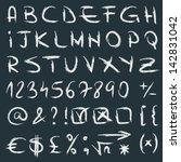 vector handwritten alphabet... | Shutterstock .eps vector #142831042