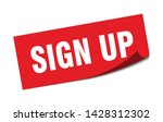 sign up square sticker. sign up ... | Shutterstock .eps vector #1428312302