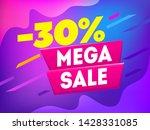 mega sale banner.  30  off... | Shutterstock .eps vector #1428331085