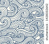 waves seamless border pattern....   Shutterstock .eps vector #1428332642