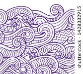 waves seamless border pattern....   Shutterstock .eps vector #1428332915