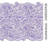 waves seamless border pattern....   Shutterstock .eps vector #1428332918