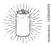 Aluminum Can. Hand Drawn Vecto...