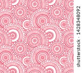 floral seamless pattern. doodle ...   Shutterstock .eps vector #1428348092