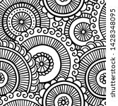 floral seamless pattern. doodle ...   Shutterstock .eps vector #1428348095