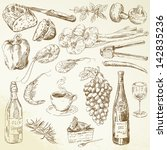 background,basil,beverage,bottle,bread,cake,chilly,coffee,collection,cook,cooking,cuisine,dinner,doodle,drawing