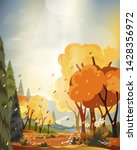 fantasy panorama landscapes of... | Shutterstock .eps vector #1428356972