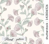 flower seamless pattern can be... | Shutterstock .eps vector #142836526