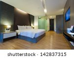 Stock photo luxury modern room in hotel with facilities bangkok thailand 142837315