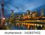 melbourne skyline along the... | Shutterstock . vector #142837432