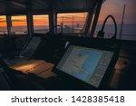 Wheelhouse In Modern Ship With...