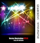 eps10 vector stage lights  easy ... | Shutterstock .eps vector #142838935