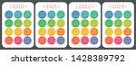 calendar 2020  2021  2022 and... | Shutterstock .eps vector #1428389792