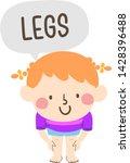 illustration of a kid girl... | Shutterstock .eps vector #1428396488