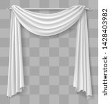 curtain drapery for the window... | Shutterstock .eps vector #1428403982