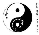 decorative yin yang symbol.... | Shutterstock .eps vector #1428413978