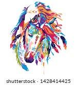 Ornamental Horse In Pop Art...