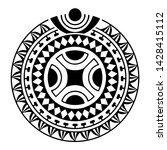 round tattoo ornament maori... | Shutterstock .eps vector #1428415112