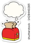 cartoon toaster with thought... | Shutterstock .eps vector #1428440285