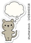 cartoon cat with thought bubble ... | Shutterstock .eps vector #1428440318