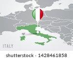 vector illutration map of... | Shutterstock .eps vector #1428461858