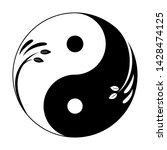 decorative yin yang symbol.... | Shutterstock .eps vector #1428474125