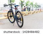 Mountain Bike. Parked Bicycle...