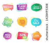 modern set of abstract sale... | Shutterstock .eps vector #1428495308
